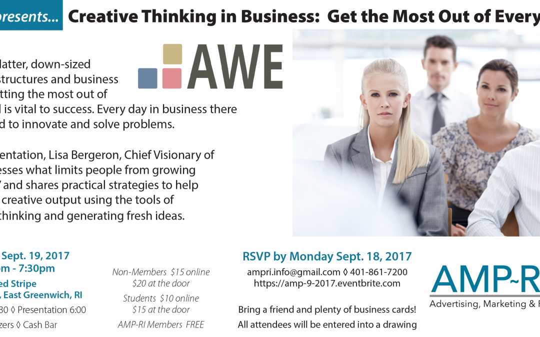 "September 19, 2017: ""Creative Thinking in Business: Get the Most Out of Every Mind!"""